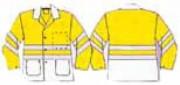 Veste bicolore haute visibilité personnalisé - 50 couleurs de fond sur demande