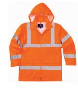 Veste de pluie polyester haute visibilité - Normes EN 471 classe 3:2 / EN 343 classe 3:1