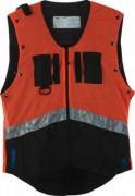 Veste de protection antitranspiration - Modèle en polyester Orange et Noir - 2 tailles : M et XL
