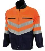 Veste de travail haute visibilité - Couleurs : Orange/Marine - Norme EN 20471 Classe 2.2