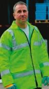Veste haute visibilité imperméable - Veste conforme à la norme EN471 classe 3.1