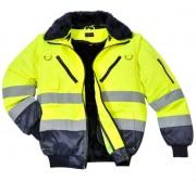Veste haute visibilité unisexe - Tissu extérieur : 55% Coton, 45% Polyester, 240g