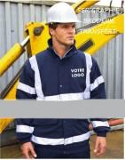 Veste personnalisé sécurité - 270 g/m²  Extérieur: 100% polyester