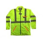 Veste polaire de travail jaune fluo - Haute qualité    -   Doublure Coupe-vent