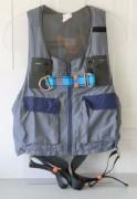 Veste protection antichute - Modèle uni-taille en poly-coton Gris et Bleu