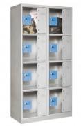 Vestiaire 4 Cases 2 Colonnes - Porte en méthacrylate 10 mm d'épaisseur