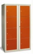 Vestiaire 5 cases 1 colonne - Cases superposées - En kit ou monobloc