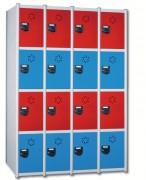 Vestiaire à 4 casiers H 1800 mm - Modulable de 1 à 4 colonnes - Dimensions (L x P x H) :Jusqu'à  1230 x 510 x 1800 mm