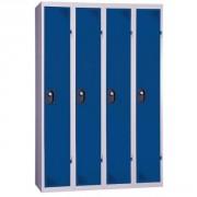 Vestiaire à 4 colonnes - Dimensions hors tout (L x P x H) : 1200 x 500 x 1800 mm