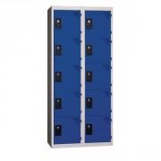 Vestiaire à 5 cases - Longueurs: de 600 à 1200 mm/largeurs cases: 300 ou 400 mm