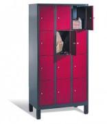 Vestiaire à casier pour lycées - Dimensions utiles par casier (H x L x P) (modèle 5 lignes de casiers) : 295 x 230/330 x 465