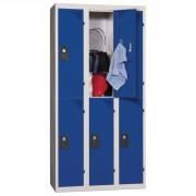 Vestiaire à deux cases - Longueurs: de 300 à 1200 mm-Largeurs cases: 300 ou 400 mm