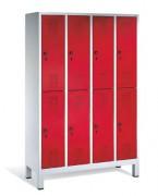 Vestiaire à deux niveaux - Dimensions utiles par casier (H x L x P) : 813 x 230/330 x 465 mm
