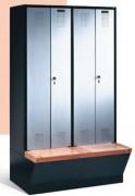 Vestiaire de sport - Dimensions utiles par portes (H x L x P) : 1600 x 230/330 x 465 mm