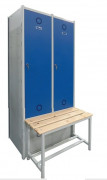 Vestiaire démontable de sport - Hauteur : 1800 mm - 2 à 4 colonnes