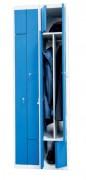 Vestiaire démontable en inox - Hauteur : 1800 mm - Modulable
