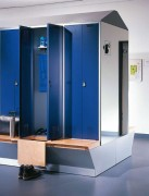 Vestiaire fitness - Hauteur d'armoire : 2090 mm Hauteur d'assise : 420 mm Profondeur d'assise : 315 mm