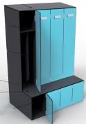 Vestiaire industrie - Hauteur : 180 cm - Profondeur : 50 cm
