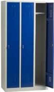 Vestiaire industrie propre monobloc 3 cases - Dimensions (hxlxp) en cm : 180x30x50