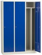 Vestiaire industrie salissante monobloc 3 cases - Dimensions (hxlxp) en cm : 180x40x50