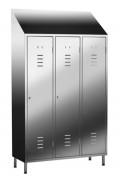Vestiaire inox monobloc - Séparation intérieur 3 portes