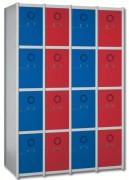 Vestiaire métal H 1800 mm - Modulable de 1 à 4 colonnes -  Poids (Kg) : Jusqu'à 26,7