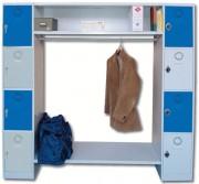 Vestiaire penderie H 1800 mm - Avec 8 casiers - Dimensions (L x P x H) : Jusqu'à 400 x 500 x 1800 mm
