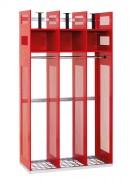 Vestiaire pompiers centre secours - Dimensions : 1780 x 1000 x 550 mm