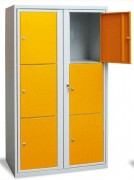 Vestiaire visitable scolaire - 2 colonnes / 3 casiers - Hauteur : 1580 mm