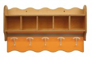 Vestiaires à suspendre 5 à 6 emplacements - 2 Longueurs : 104 ou 124 cm - 5 à 6 emplacements