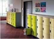 Vestiaires scolaires - Dimensions utiles casiers (H x L x P) : 345 x 260 x 460 mm