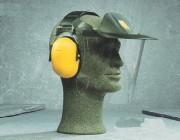 Visière pour casque antibruit - S'adapte directement au casque anti-bruit serre-tête