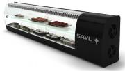 Vitrine à sushi réfrigerée - Dimensions (mm) : 1350 x 240 x 390 - 1710 x 240 x 390