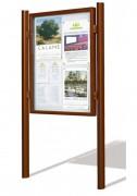 Vitrine affichage extérieur - Capacité feuilles A4 et profilé aluminium