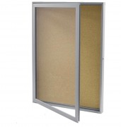 Vitrine affichage extra plate fond liège - Dimensions (Lxh) : 500 x 700 - 600 x 800 - 700 x 1000 mm