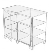 Vitrine basse plastique transparent