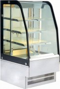 Vitrine chauffante bombée fermée - 220 ou 430 L - +30° à +85°C - Eclairage LED