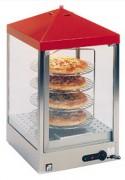 Vitrine chauffante pour pizza - Capacité : 4 pizzas - Puissance : 800 watts