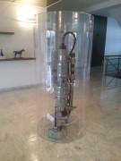Vitrine cylindrique transparente très grande taille - Hauteur jusqu'à 3 m - diamètre jusqu'à 2 m