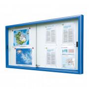 Vitrine d'affichage coulissante 1050 x 2300 mm - Dimensions extérieures (mm) : de 750 x 1000 à 1050 x 2300