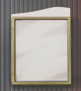 Vitrine d'affichage en bois bandeau vague