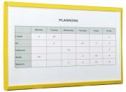 Vitrine d'affichage en PVC - Capacité : 1 x A4 ou 2 x A4