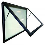 Vitrine d'affichage extérieur en aluminium - Dimensions ( H x L ) : 750 x 710 mm - Profilé aluminium - ouvrante ou soulevante