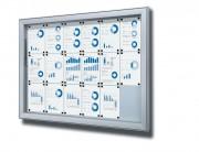 Vitrine d'affichage extérieur magnétique - Formats : 6 × A4, 8 × A4, 9 × A4, 12 × A4