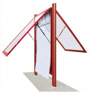 Vitrine d'affichage extérieure sur mesure - Portes battantes ou basculantes