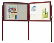 Vitrine d'affichage extérieure sur pieds - Dimensions : 101 x 95 / 101 x 137 / 101 x 179cm