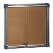 Vitrine d'affichage glaces coulissantes - Dimension (H x l) cm : 69 x 73 à 128 x 137
