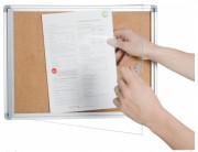 Vitrine d'affichage intérieur en métal ou liège - Dimensions : De 34 x 26 à 94 x 47cm