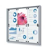 Vitrine d'affichage magnétique - Format : 4xA4 - 6xA4 - 9xA4 - 12x A4