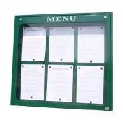 Vitrine d'affichage menu pour extérieur - Capacité : 4 ou 6 pages - Version simple face
